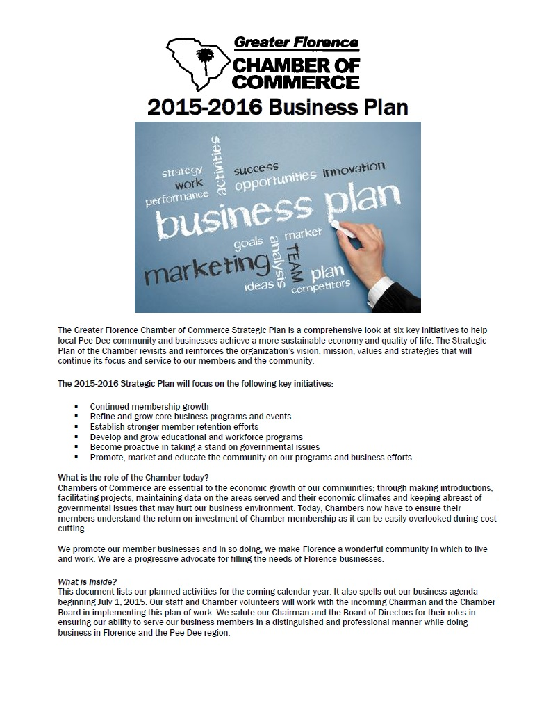 greater florence chamber of commerce chamber business plan